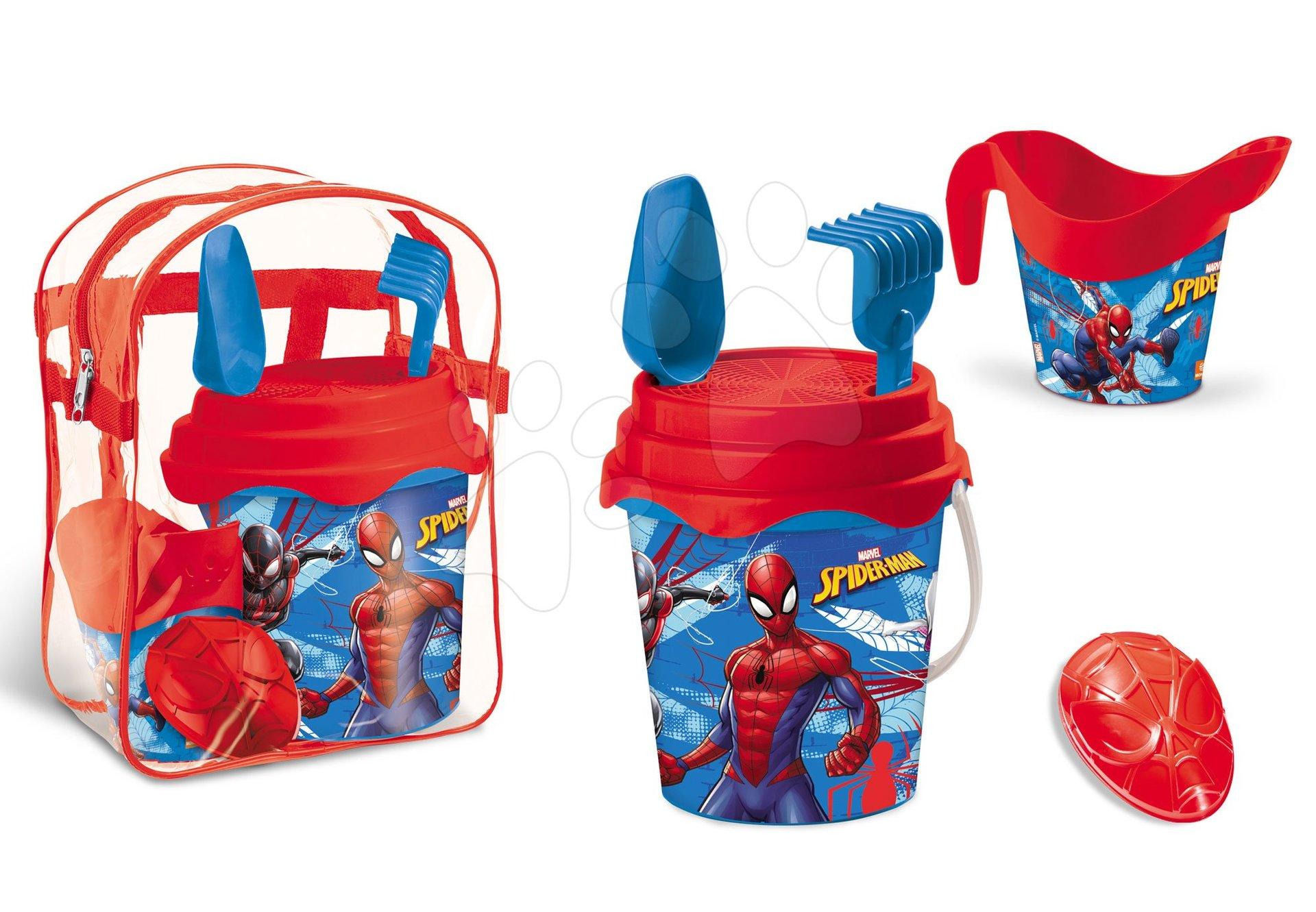 Vedierka do piesku - Batoh s vedro setom Spiderman Mondo (výška vedra 17 cm) od 18 mes
