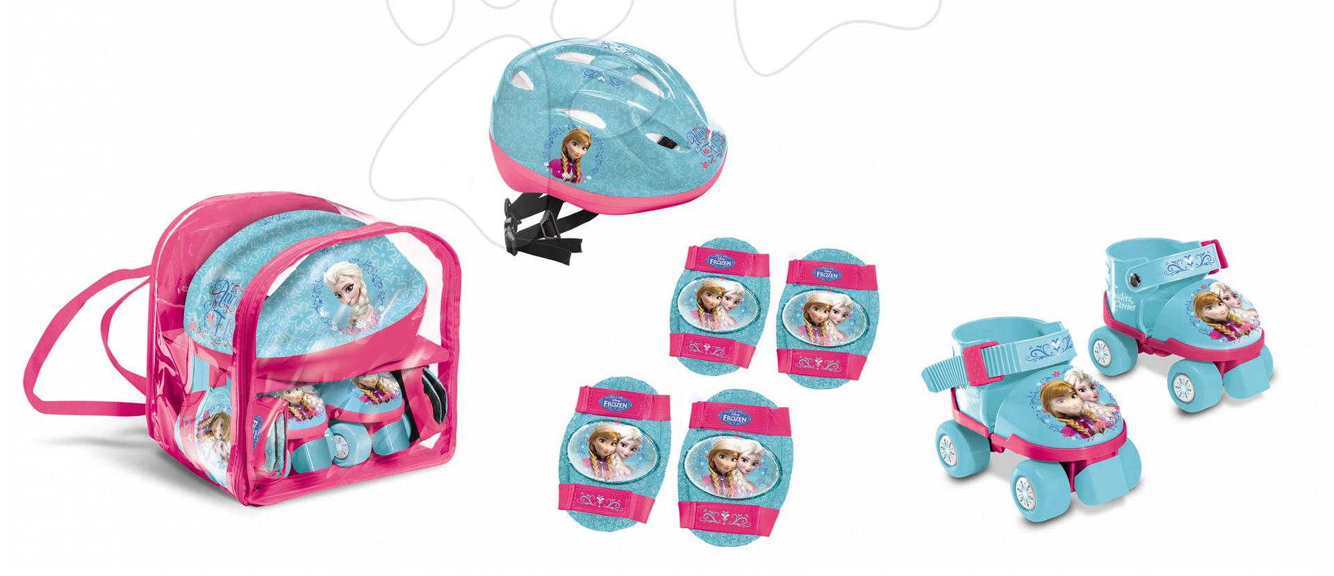 Kolečkové brusle Frozen Mondo s přilbou a chrániči velikost 22-29