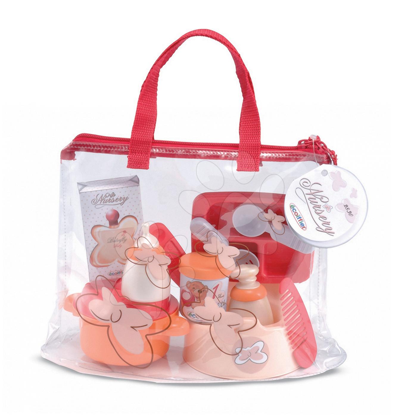 Doplnky pre bábiky - Prebaľovacia súprava pre bábiku Nursery Écoiffier v taške s doplnkami od 18 mes
