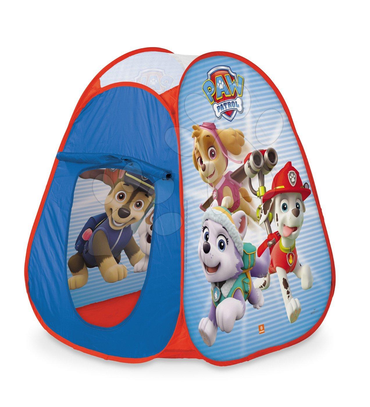 Mondo stan pre deti Paw Patrol Pop Up s okrúhlou taškou červenou 28388