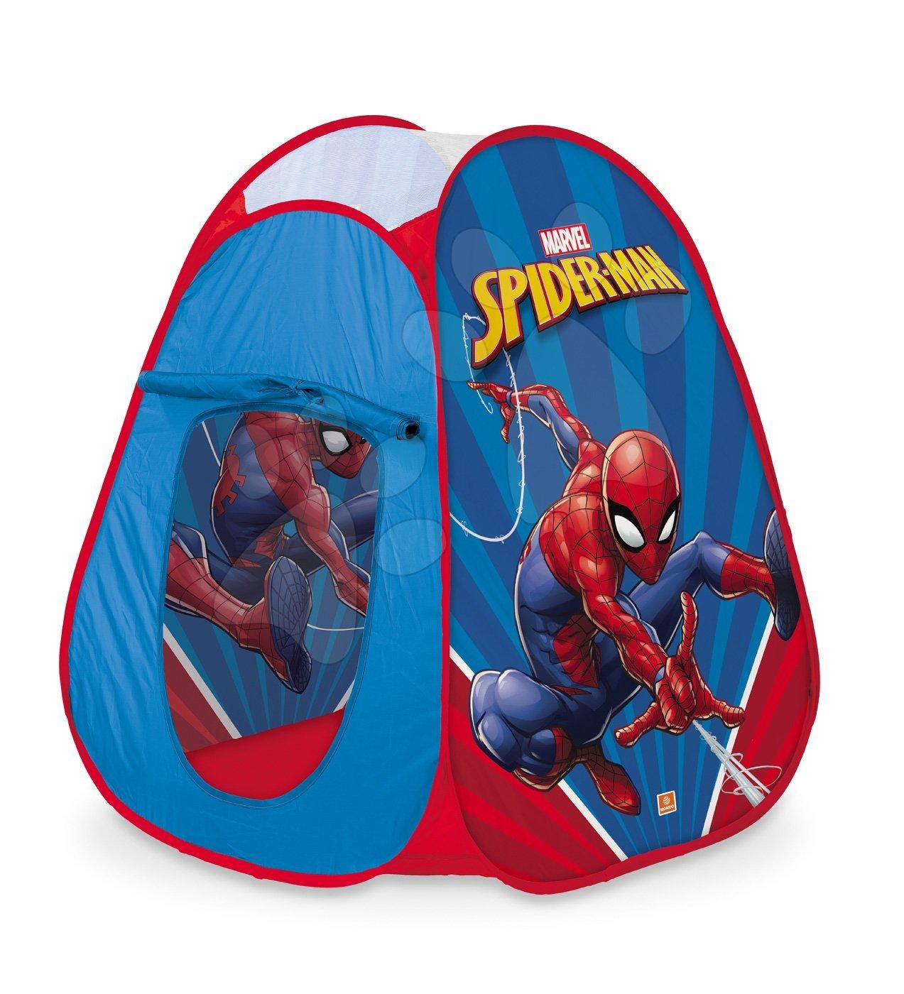 Dětské stany - Stan Spiderman Pop Up Mondo s okrouhlou taškou červenou