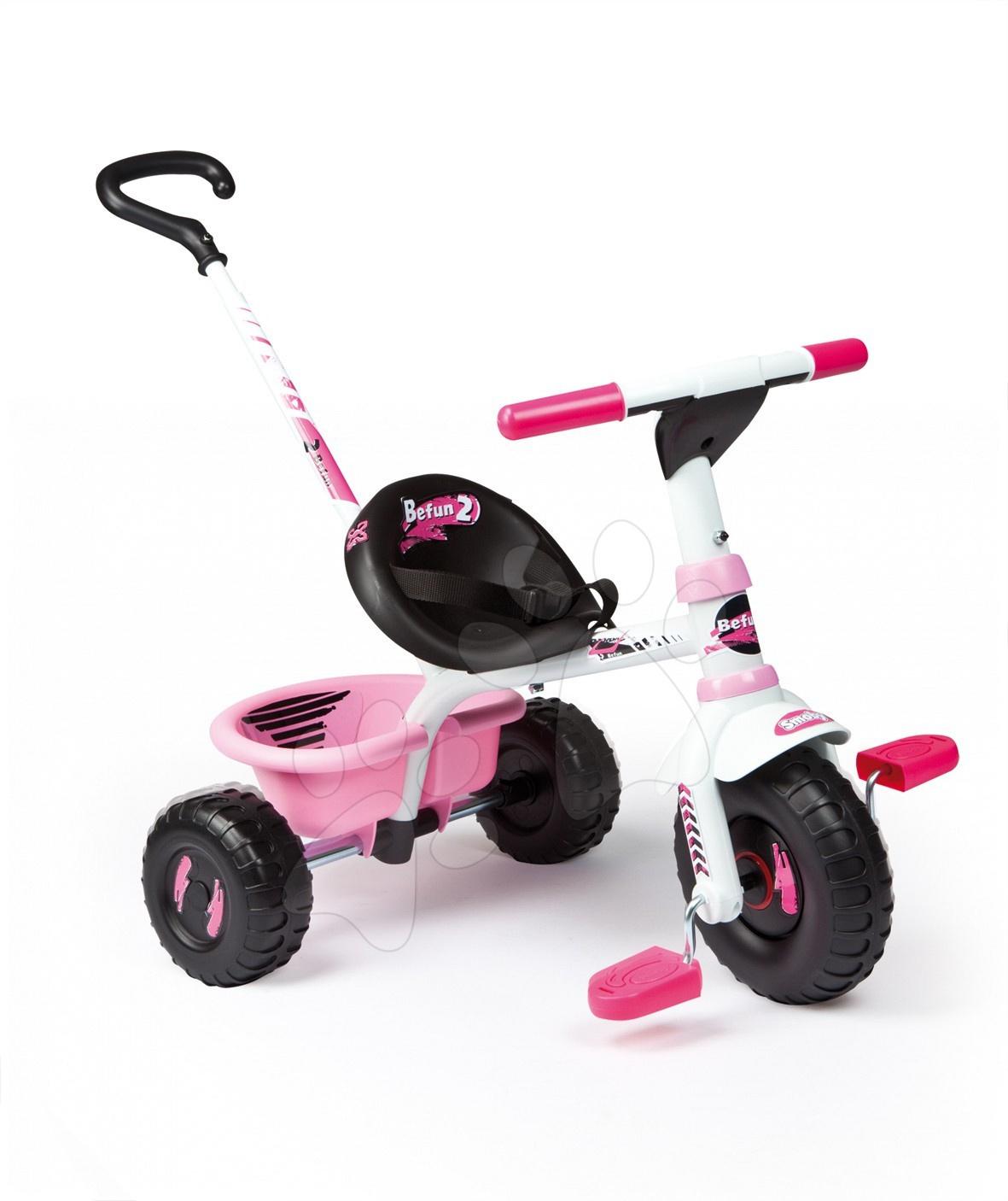 Trojkolka Be Fun sport line Smoby ružovo-biela od 15 mes