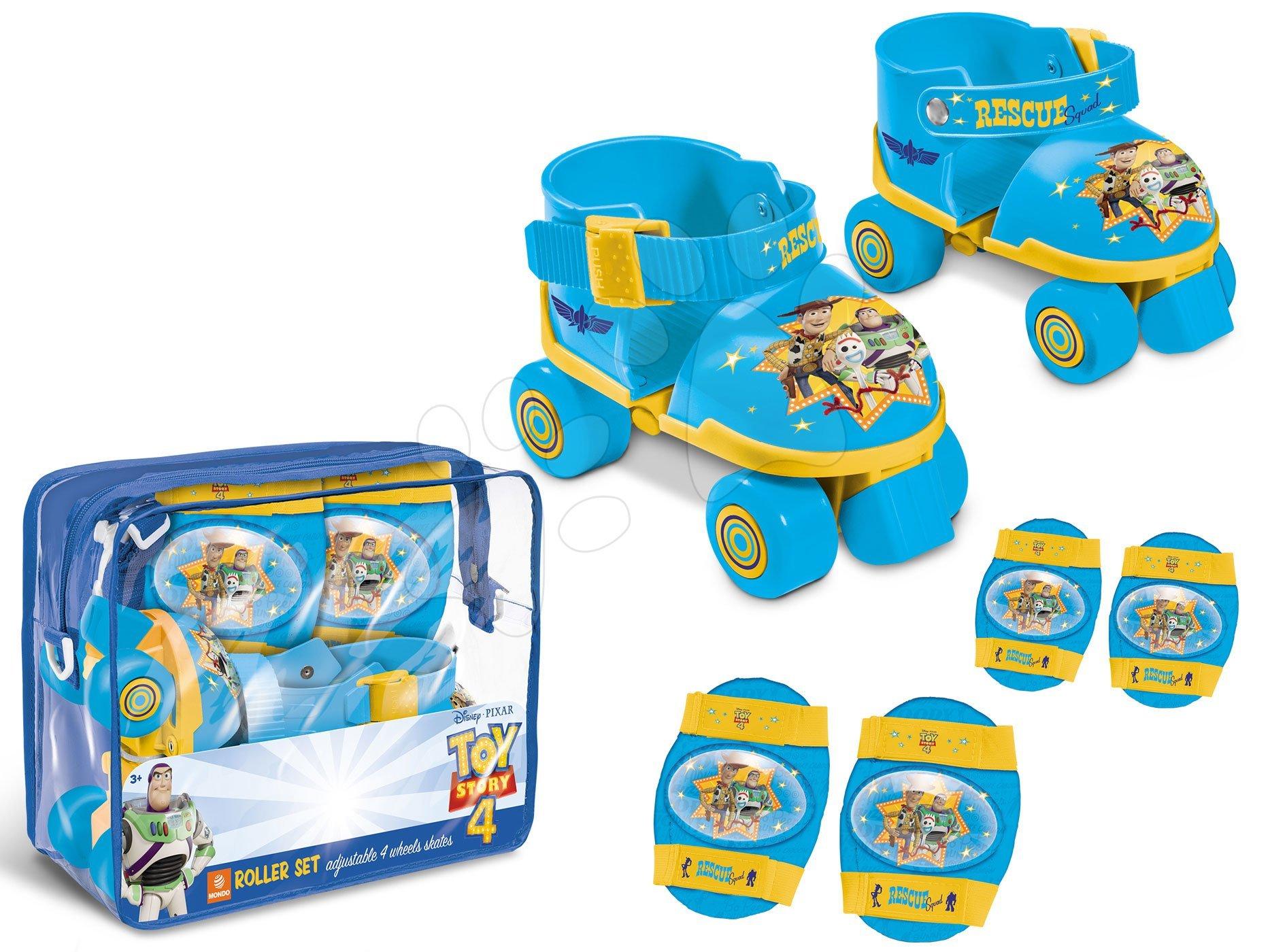 Kolieskové korčule s chráničmi Toy Story Mondo štvorkolieskové veľkosť 22-29 modré