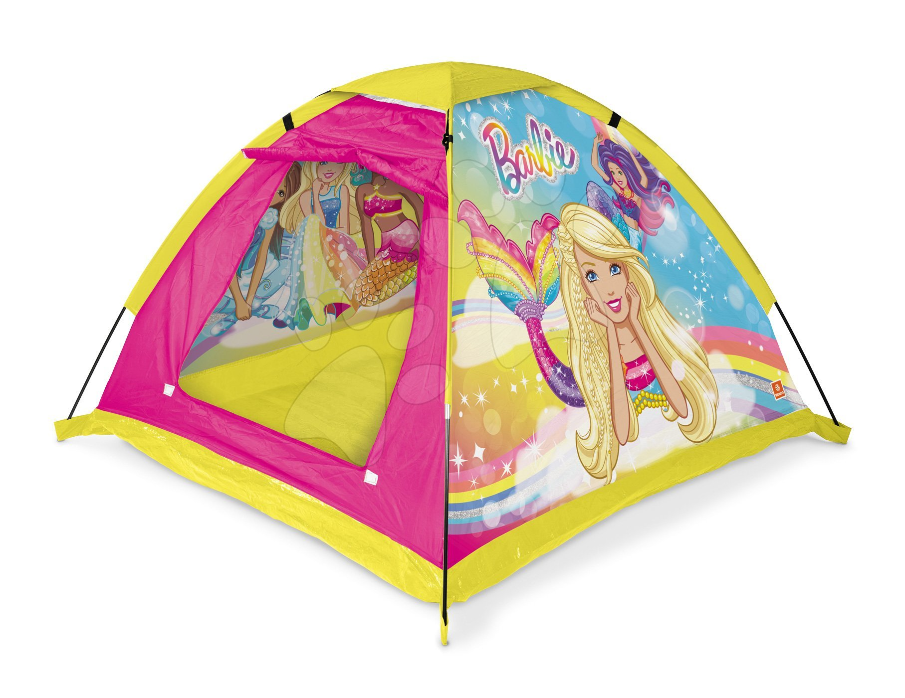 Dětský stan Barbie Garden Mondo s taškou růžový