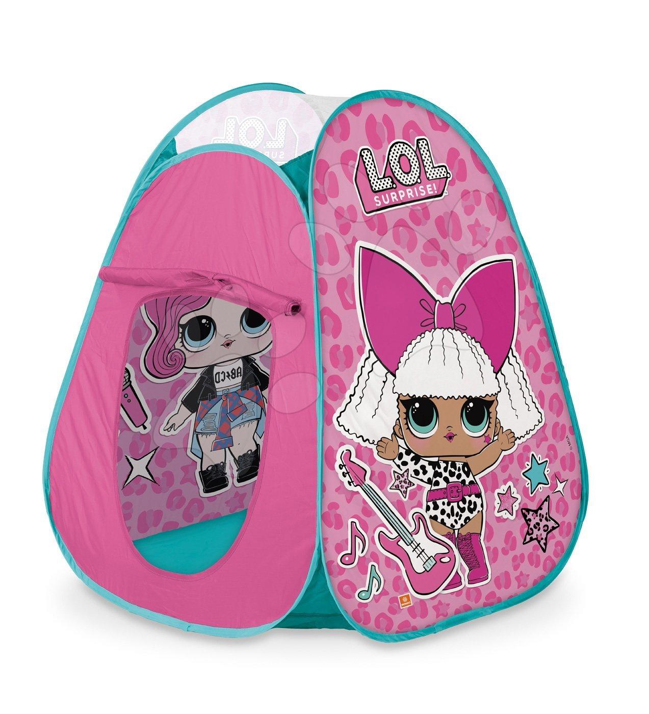 Šotor za otroke LOL Pop Up Mondo rožnati z okroglo torbico