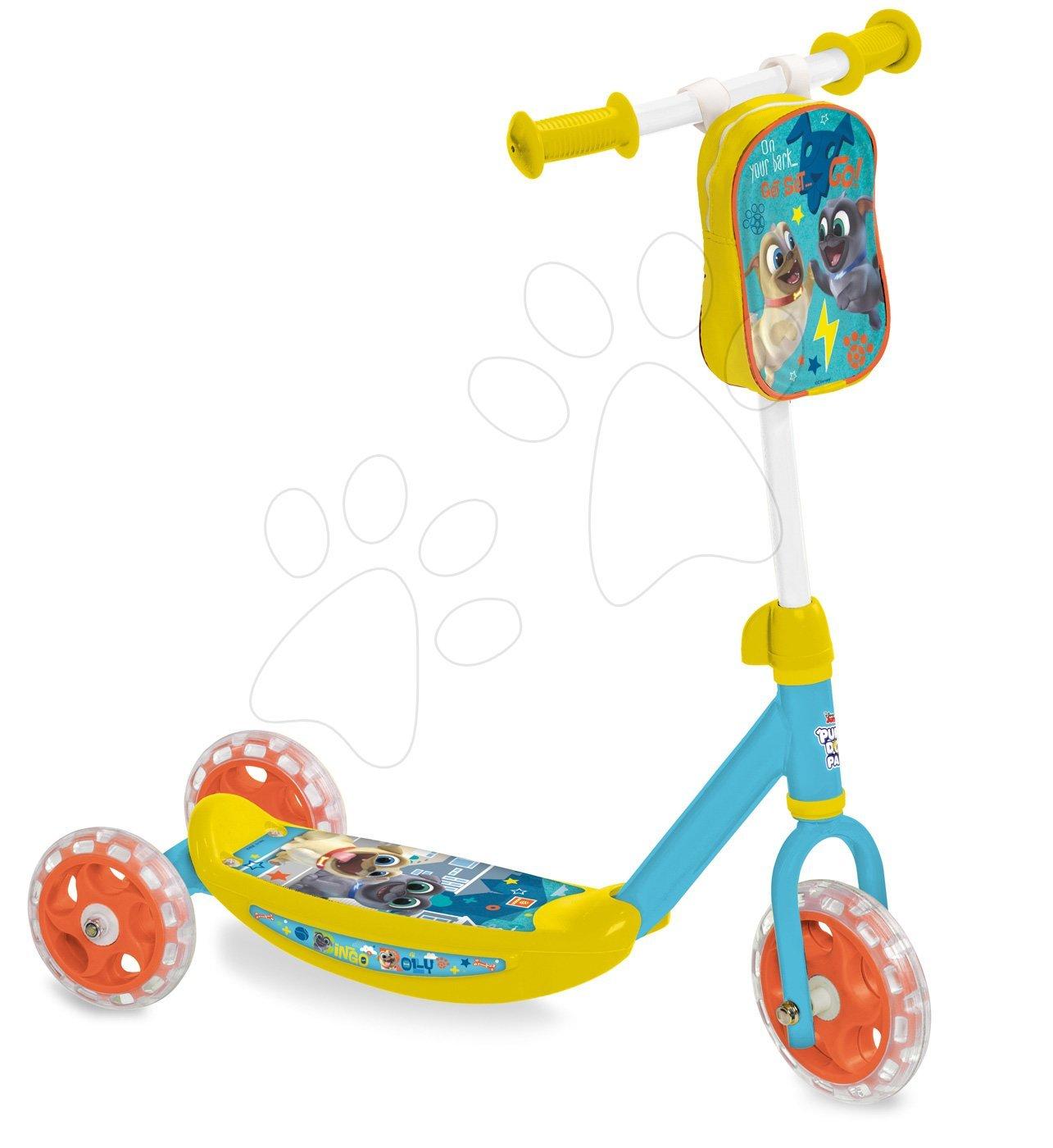 Háromkerekű roller Bingo&Rolly Mondo táskával sárga