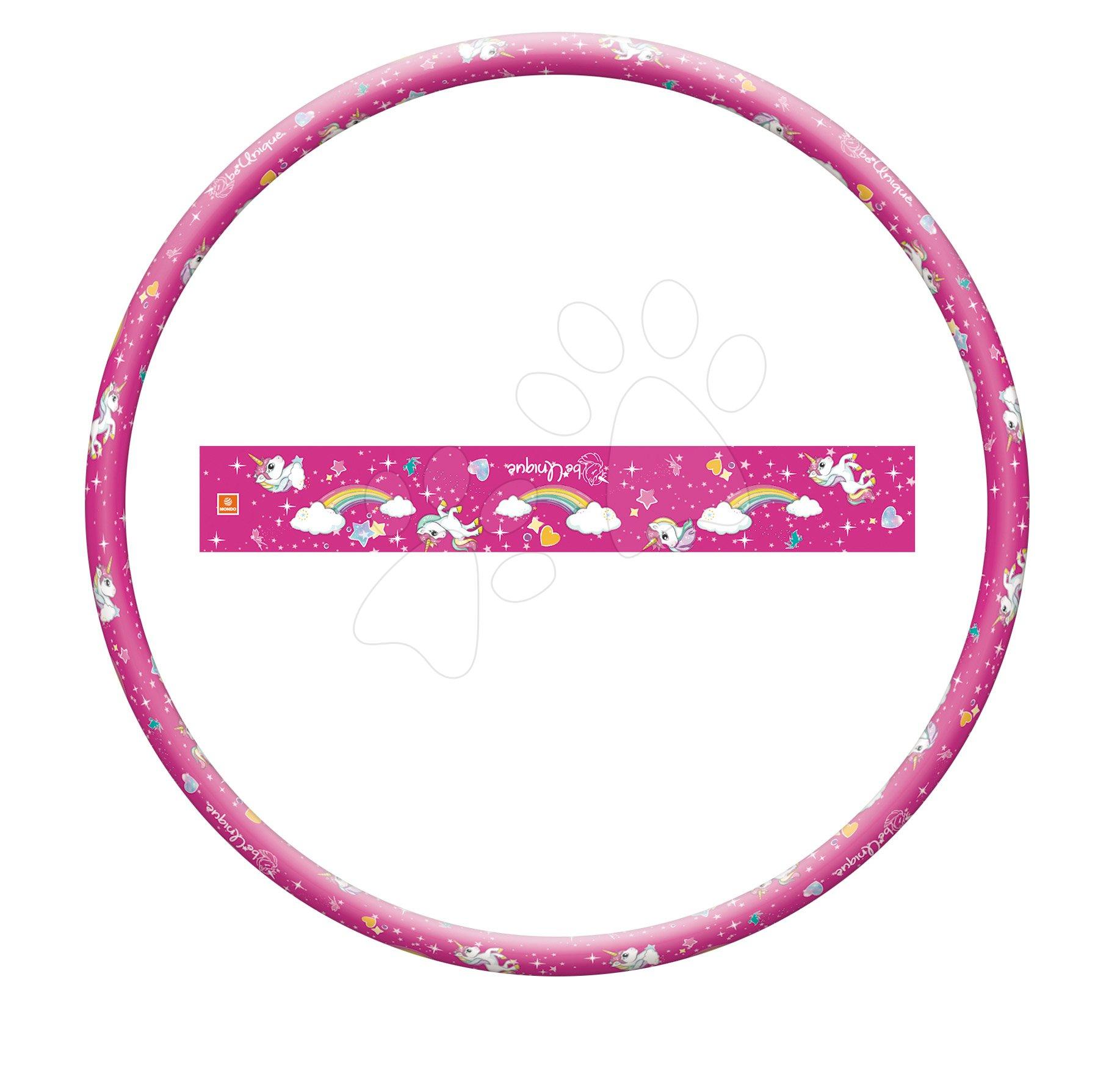 Kruh na cvičenie Hula Hoop Jednorožec Unicorn Mondo ružové 80 cm priemer
