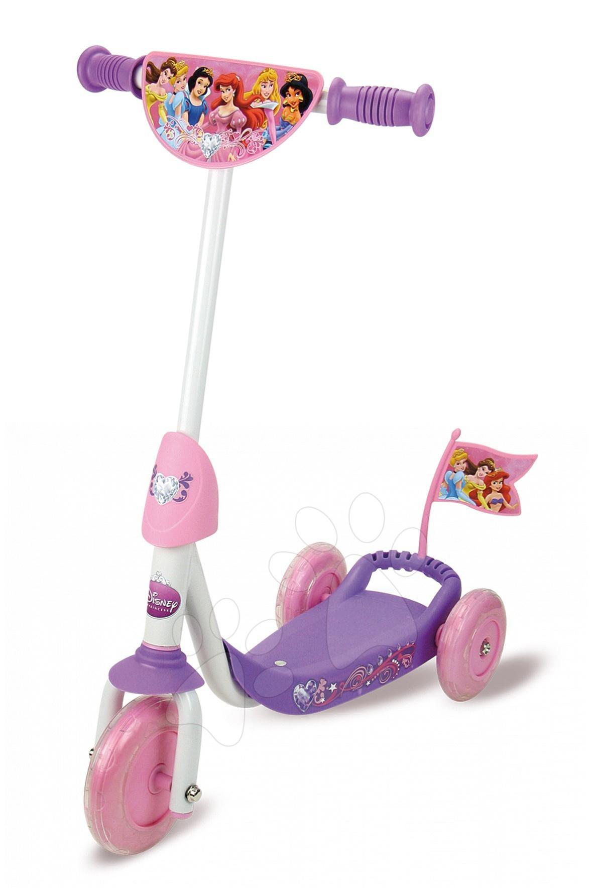 Roller Hercegnők Smoby háromkerekű, lila-rózsaszín