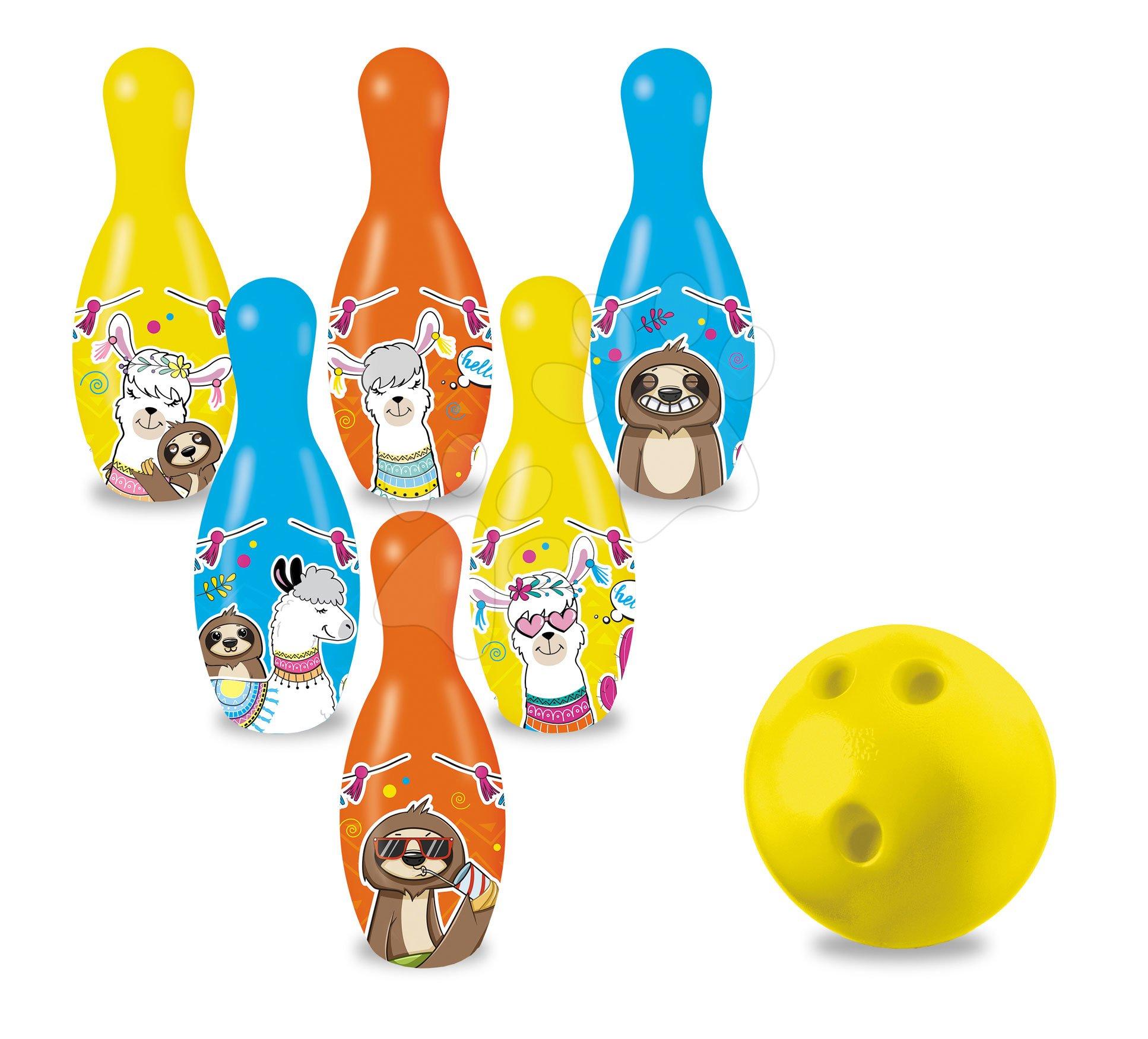 Popice Lama și prietenii Skittles Mondo 6 popice (înălțime 20 cm)