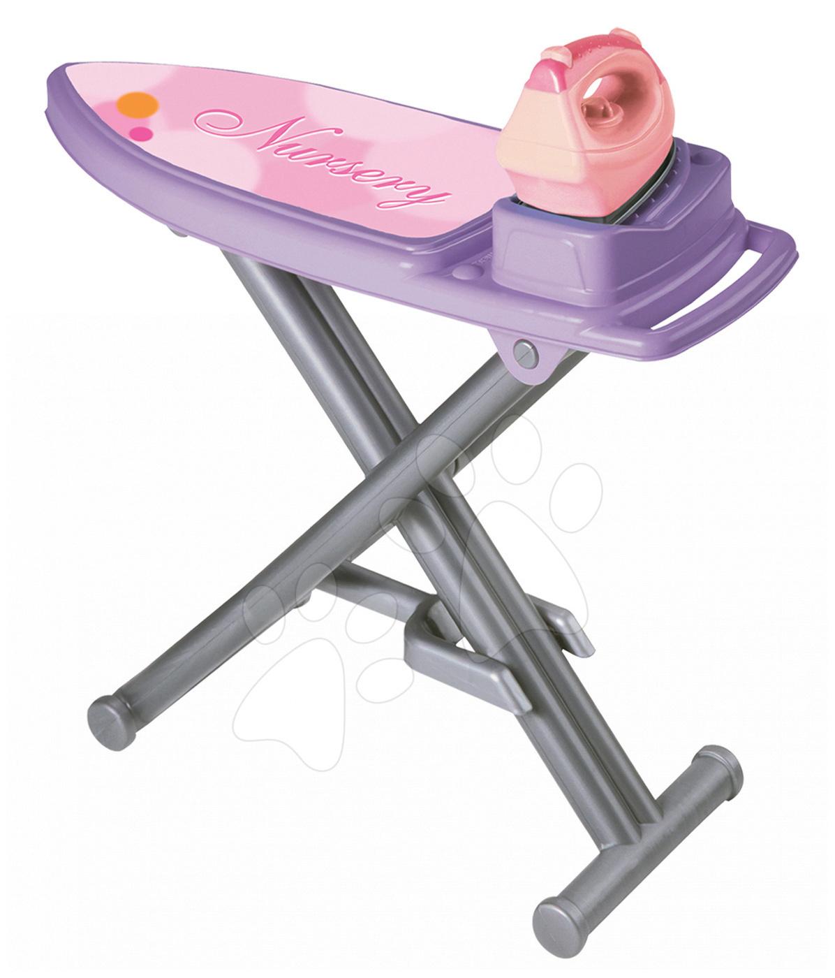 Hry na domácnost - Žehlicí prkno se žehličkou Écoiffier fialovo-růžový