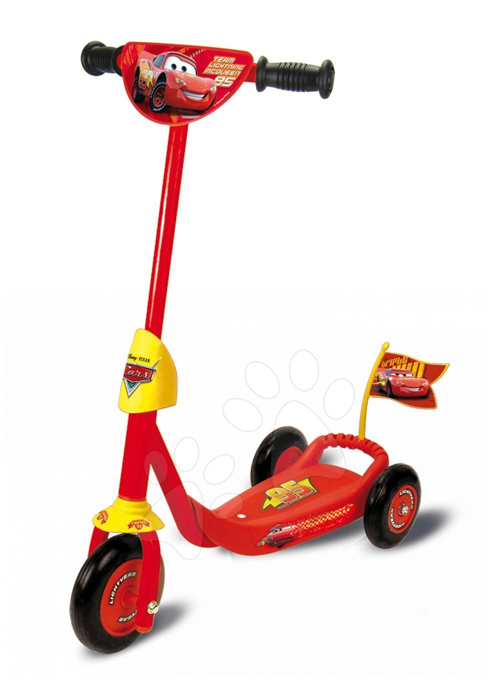 Koloběžka Cars tříkolová Smoby červeno-žlutá