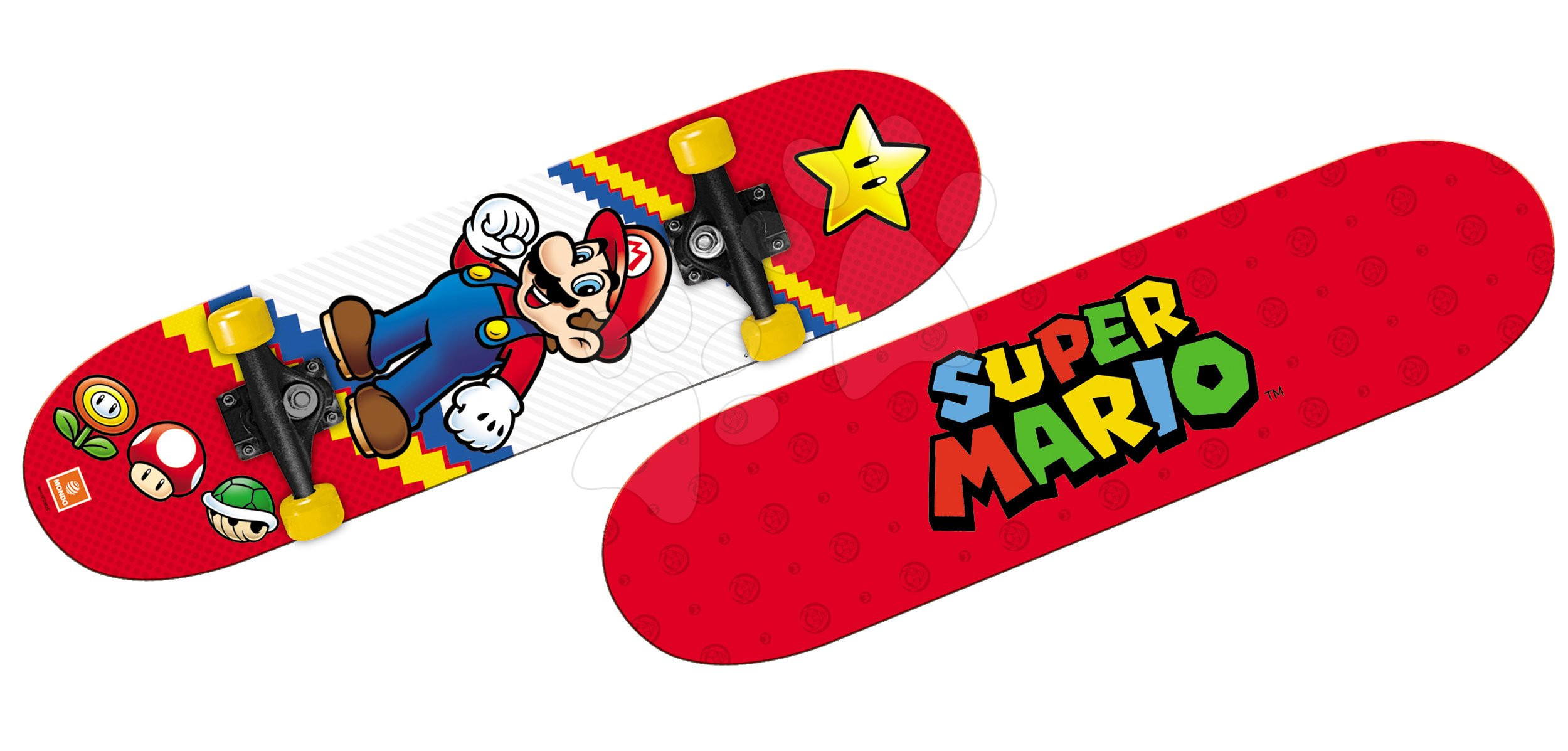 Skateboard Super Mario Mondo 80*20 cm, dvoustranný potisk, 9vrstvý, PVC 50*36 mm, PP 5