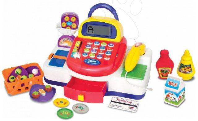 Dětská pokladna Activity Kiddieland elektronická se zvukovými a světelnými efekty od 18 měsíců