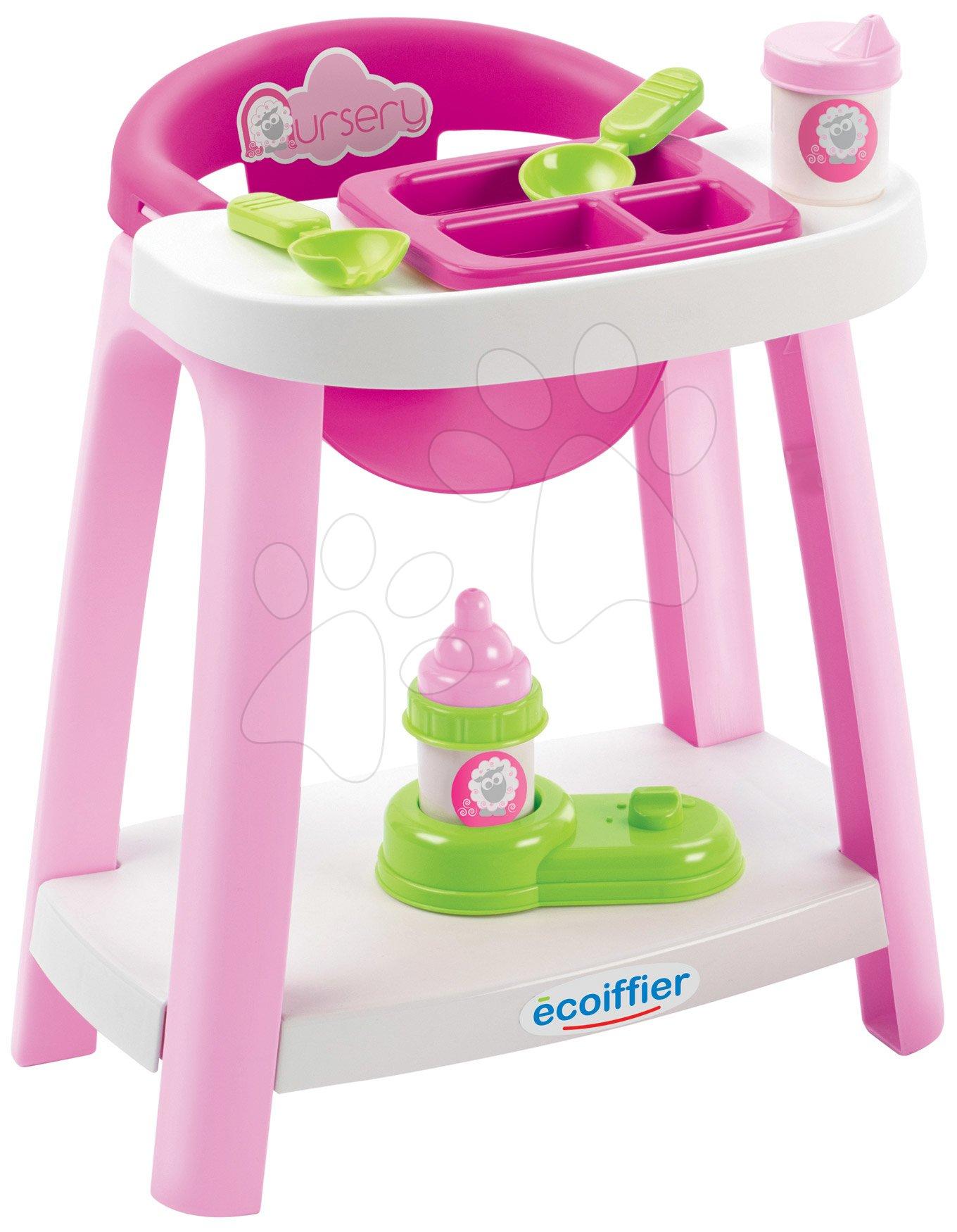 Scaun de masă Nursery Écoiffier cu accesorii de la 18 luni