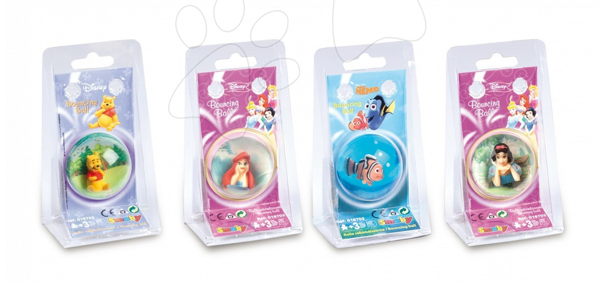 Rozprávkové lopty - Rozprávková skákacia loptička Disney Smoby 4 druhy