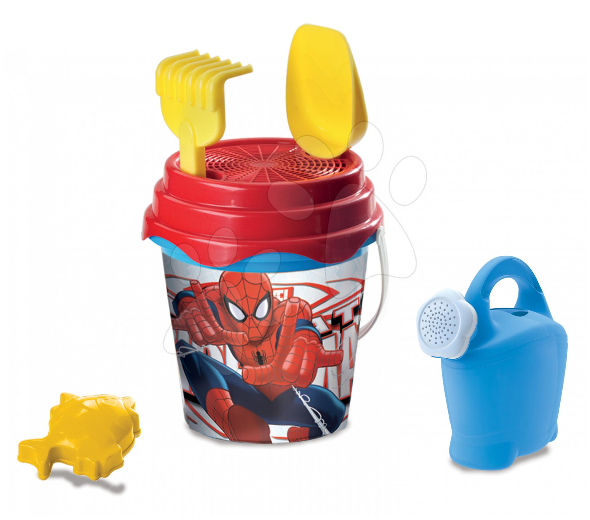 Staré položky - Vedro set s krhlou The Ultimate Spiderman Mondo 7 dielov (výška 19 cm) od 18 mes