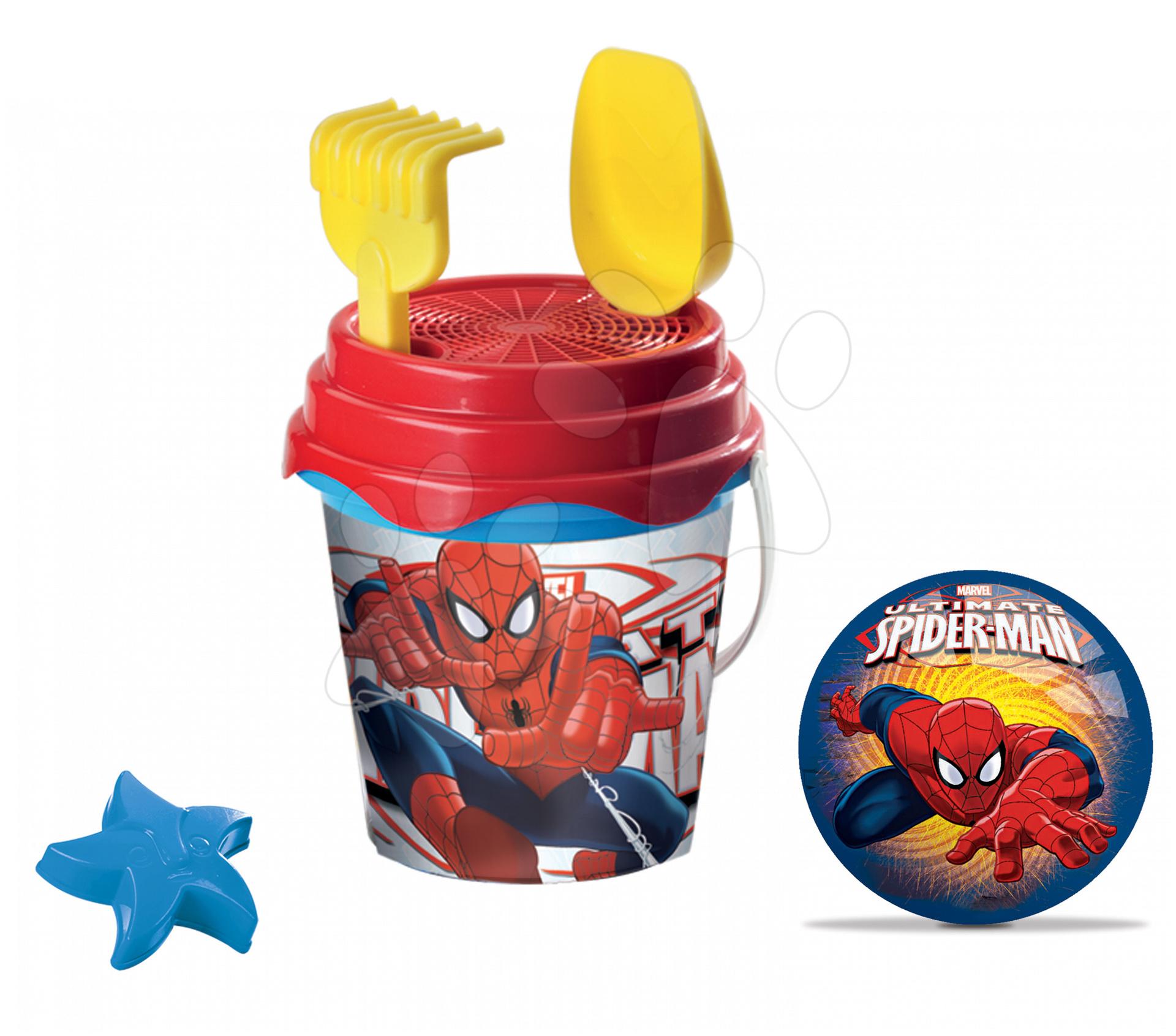 Kbelík set s míčem The Ultimate Spiderman  Mondo 7 ks 17 cm