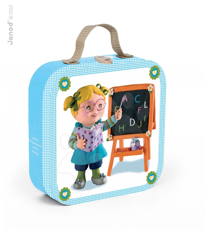 Puzzle Učitelka Lisa Janod v kufříku 6-9-12-16 dílů od 3 - 6 let