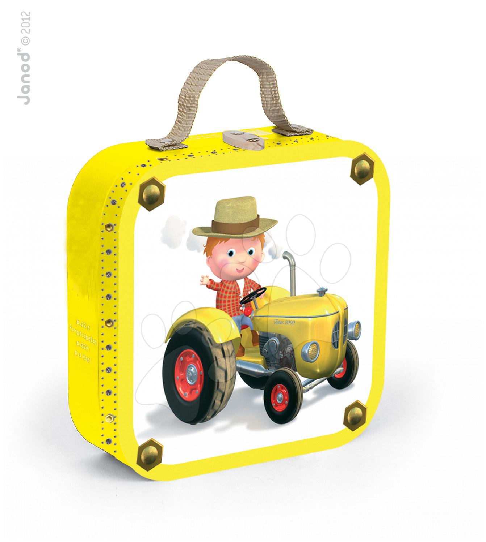 Dětské puzzle Petrov traktor Janod v kufříku 6-9-12-16 dílů od 3 - 6 let