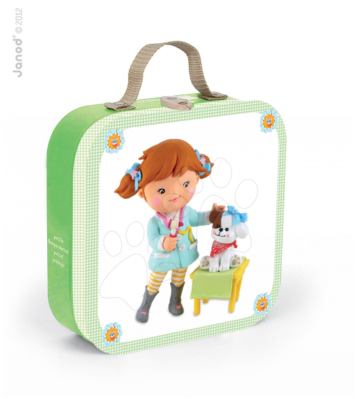 Puzzle Veterinářka Lou Janod v kufříku 6-9-12-16 dílů od 3 - 6 let