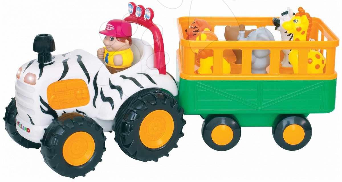 Staré položky - Activity safari traktor Kiddieland od 12 mes