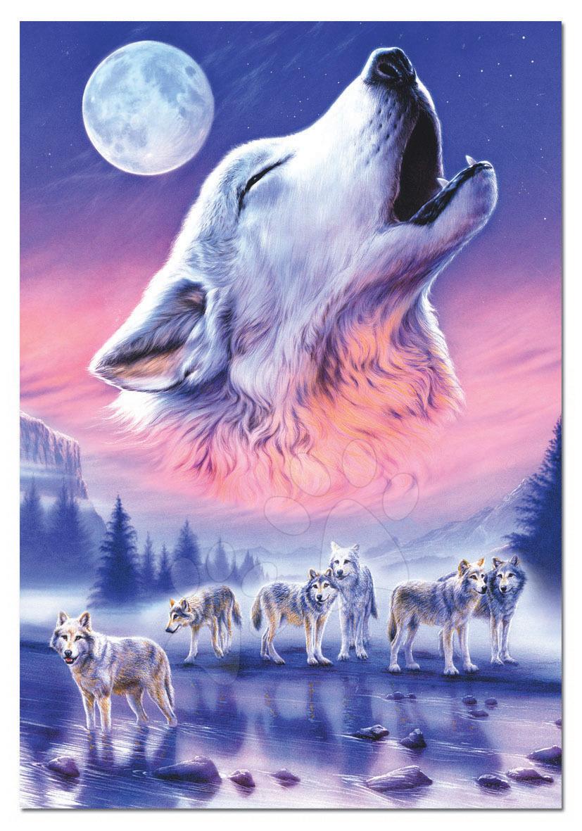 Puzzle Vyjúci vlk Educa 500 dielov od 11 rokov