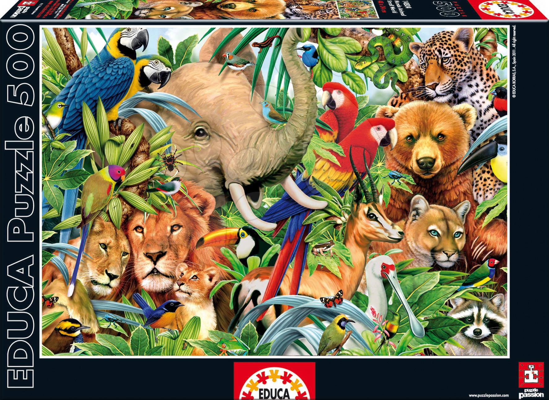 500 darabos puzzle - Puzzle Dzsungel világ Educa 500 db 11 évtől