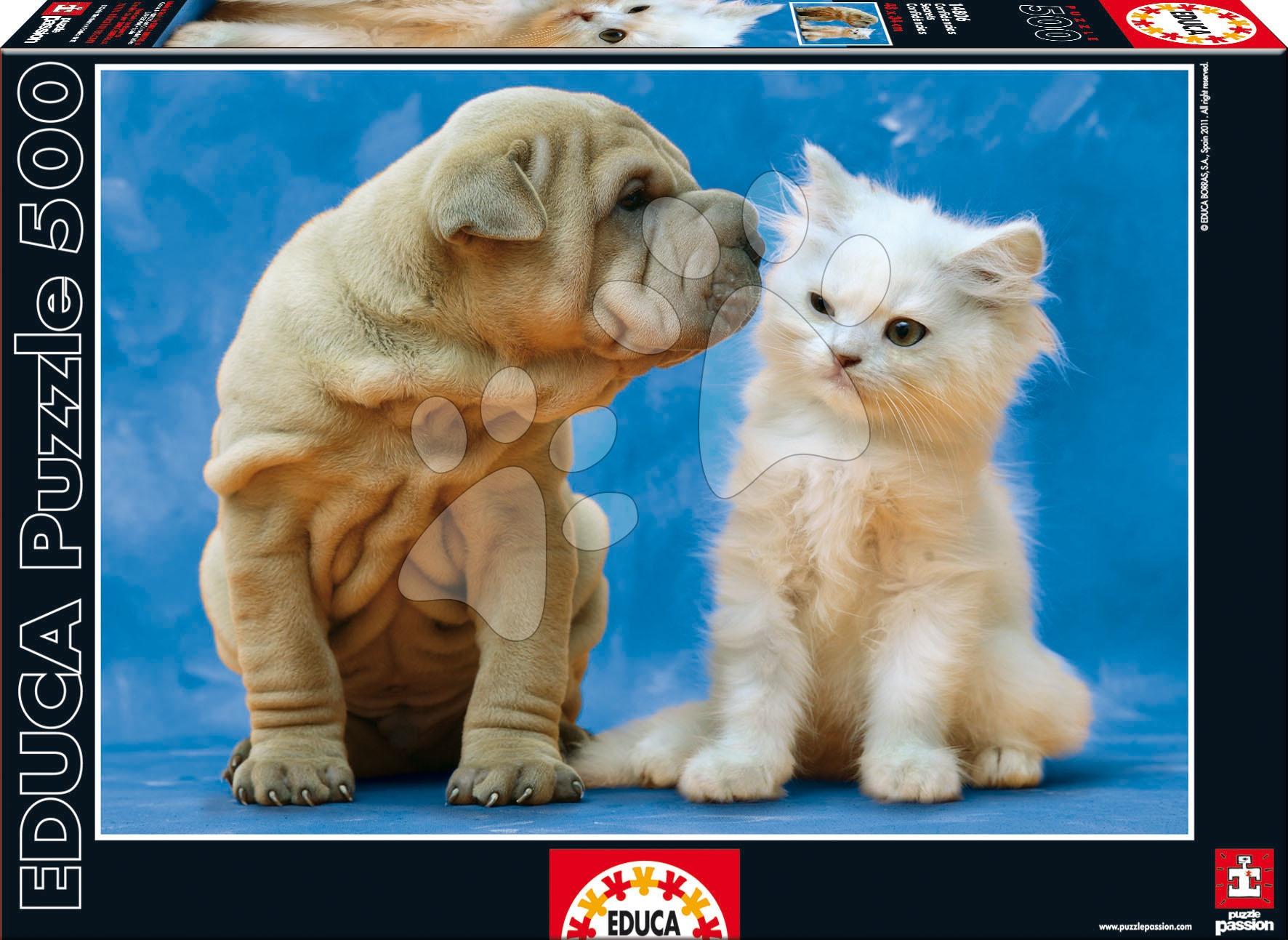 Puzzle Pes a kočička Educa 500 dílů od 11 let