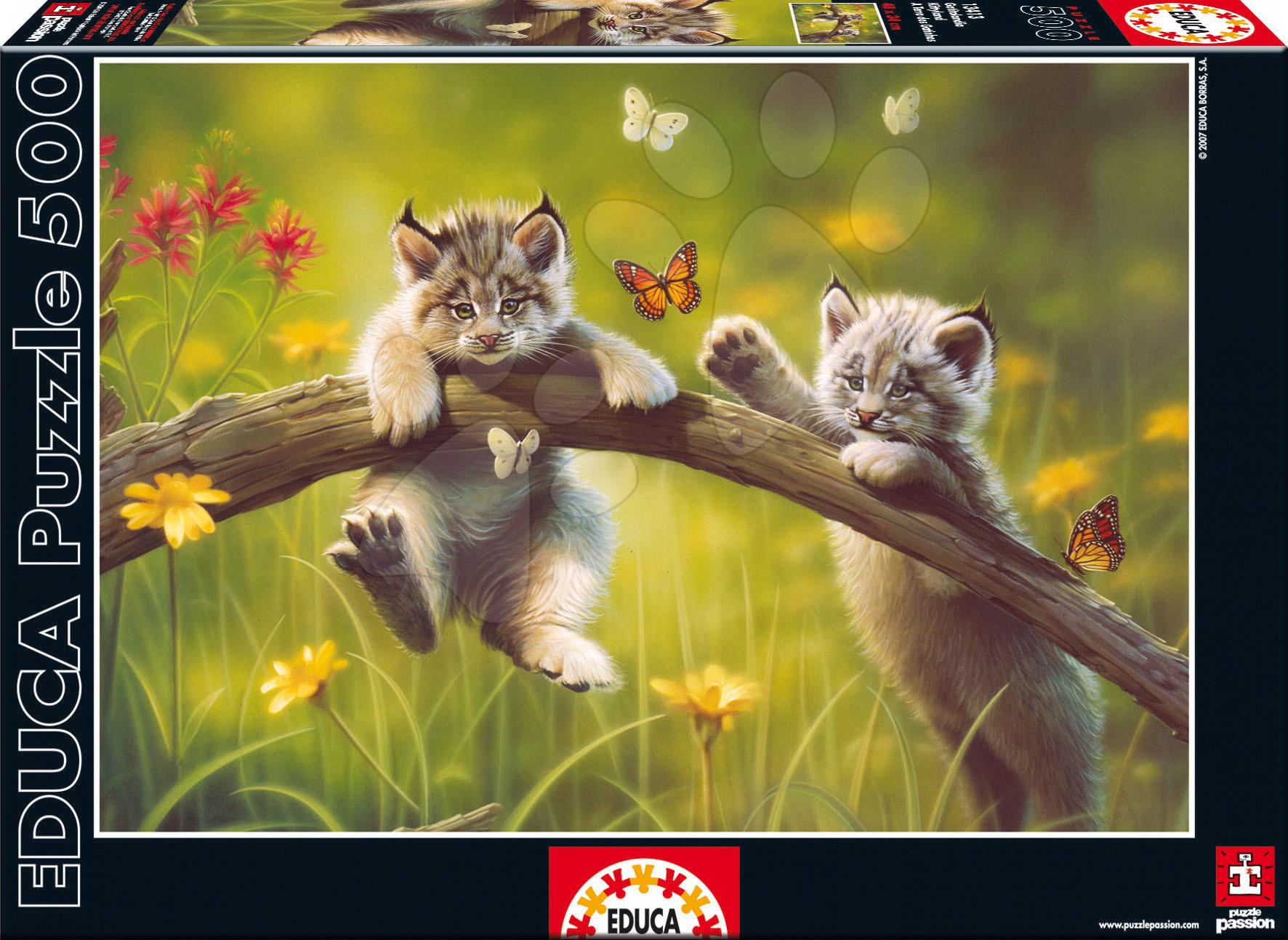 Educa Puzzle Mačiatka 500 dielov 13413 farebné