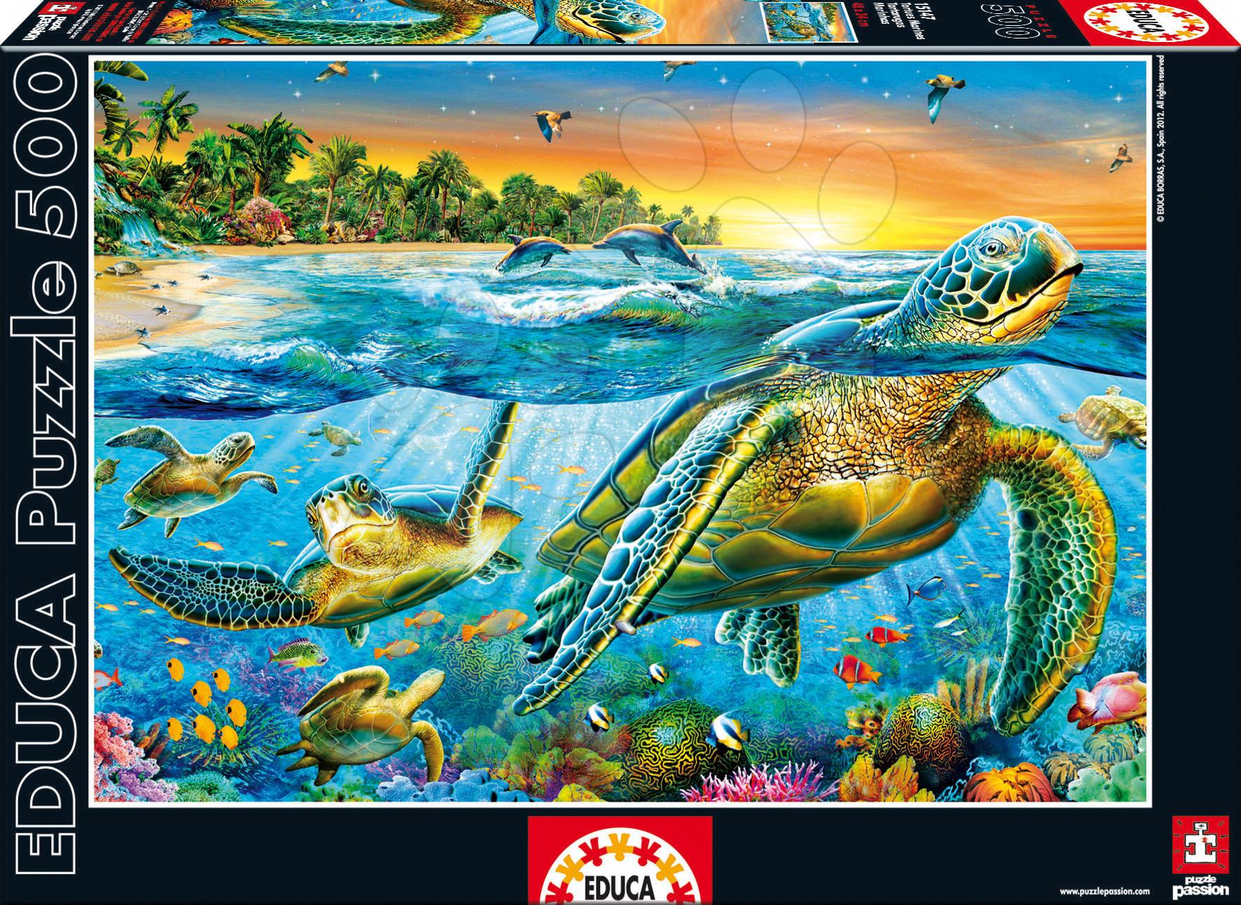 Puzzle Morské korytnačky Educa 500 dielov od 11 rokov
