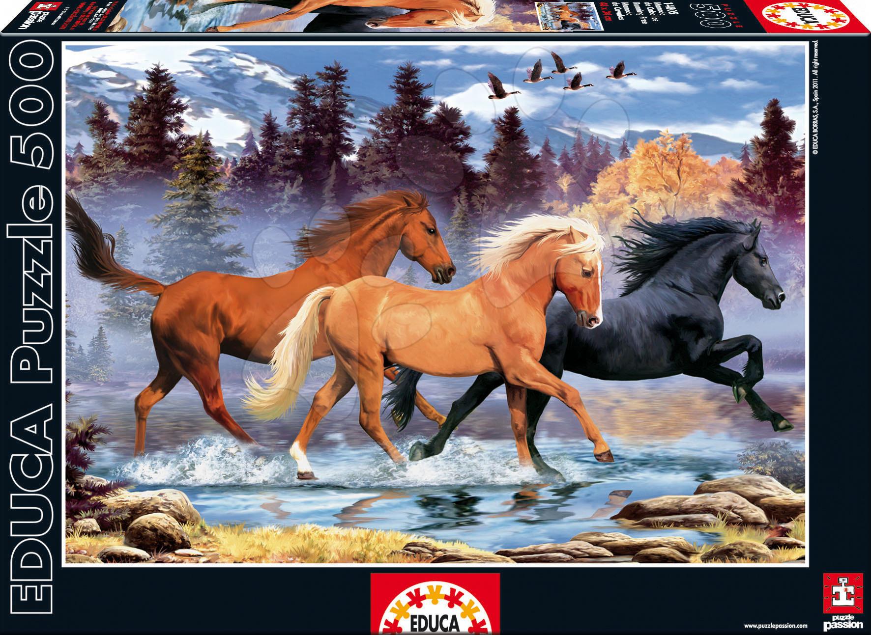 Puzzle Běžící koně Educa 500 dílků od 11 let