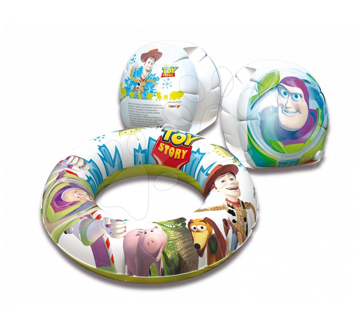 Set plávacie koleso + rukávniky Toy Story Smoby