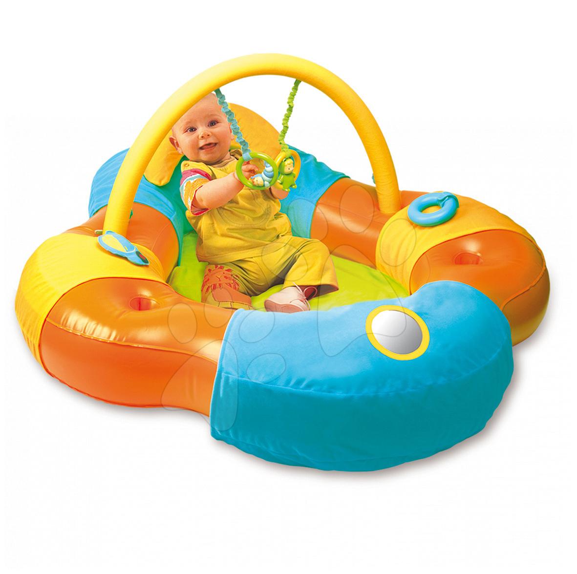 Scaune pentru copii - Insulă gonflabilă de vis Cotoons Baby Smoby cu exerciţii pentru bebe portocaliu-albastru de la 3 luni