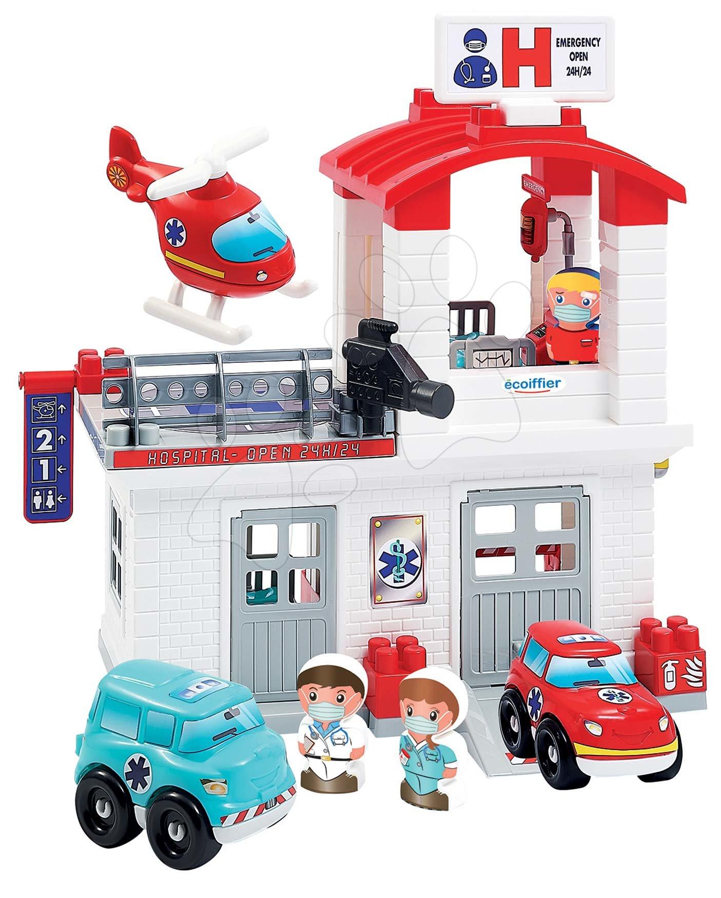 Slagalice Abrick - Slagalica Bolnica Hospital Abrick Ecoiffier s 3 vozila i 3 figurice od 18 mjes