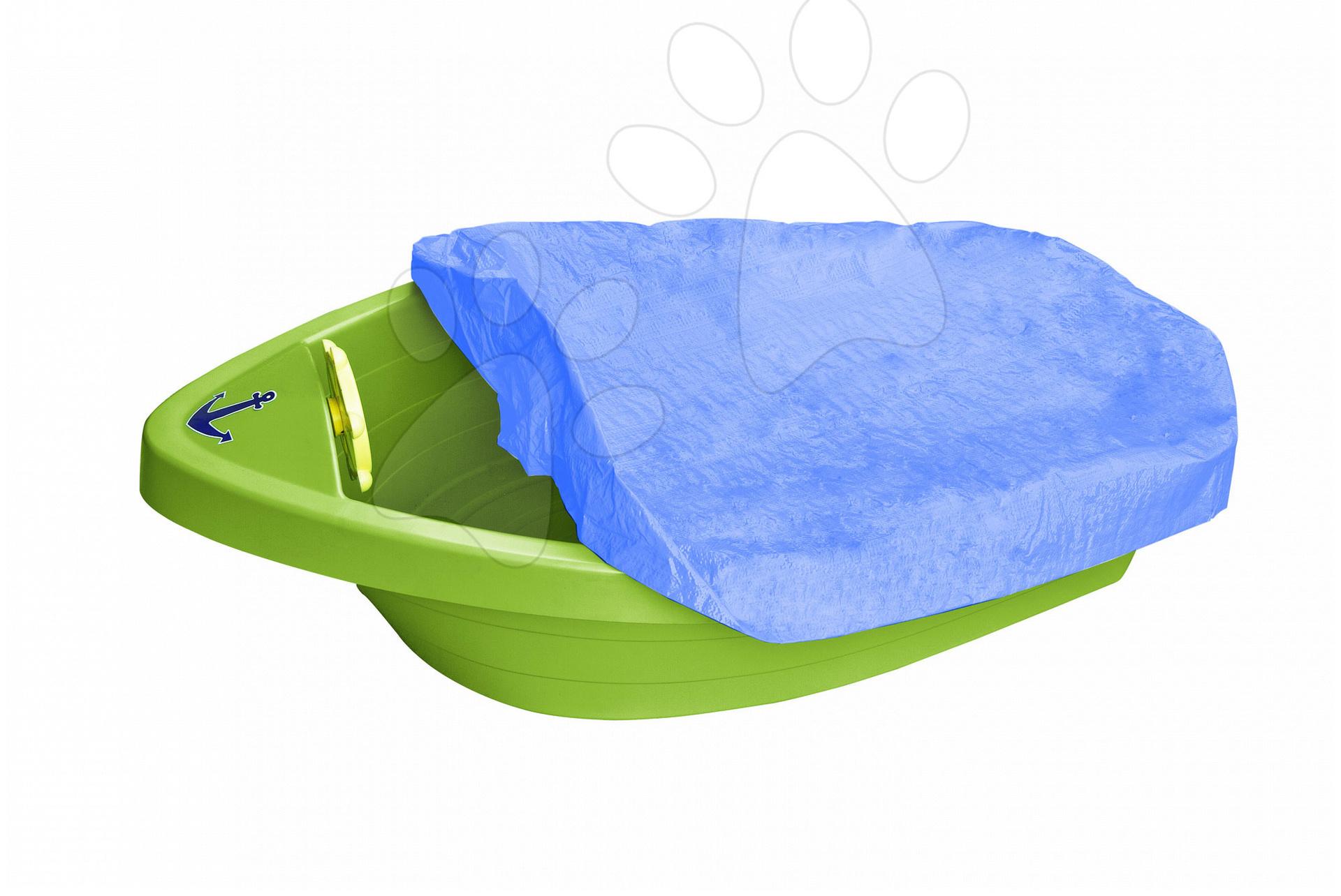 Pieskoviská pre deti - Pieskovisko loďka PalPlay s volantom a plachtou od 24 mes