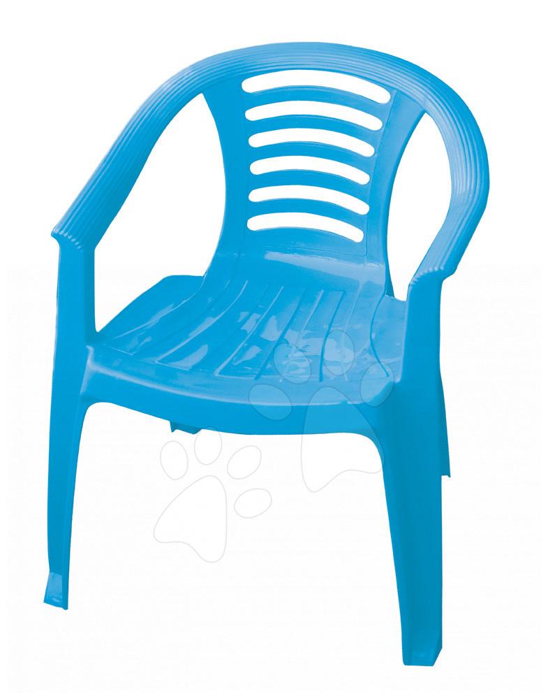 Detský záhradný nábytok - Stolička PalPlay modrá