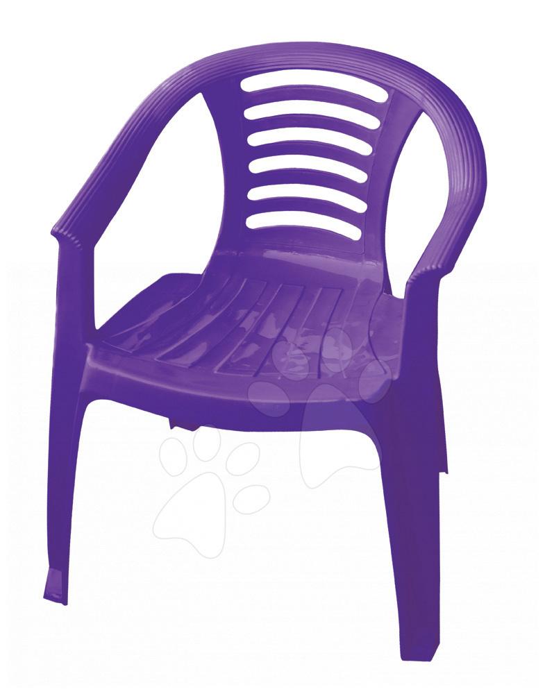 Detský záhradný nábytok - Stolička PalPlay fialová