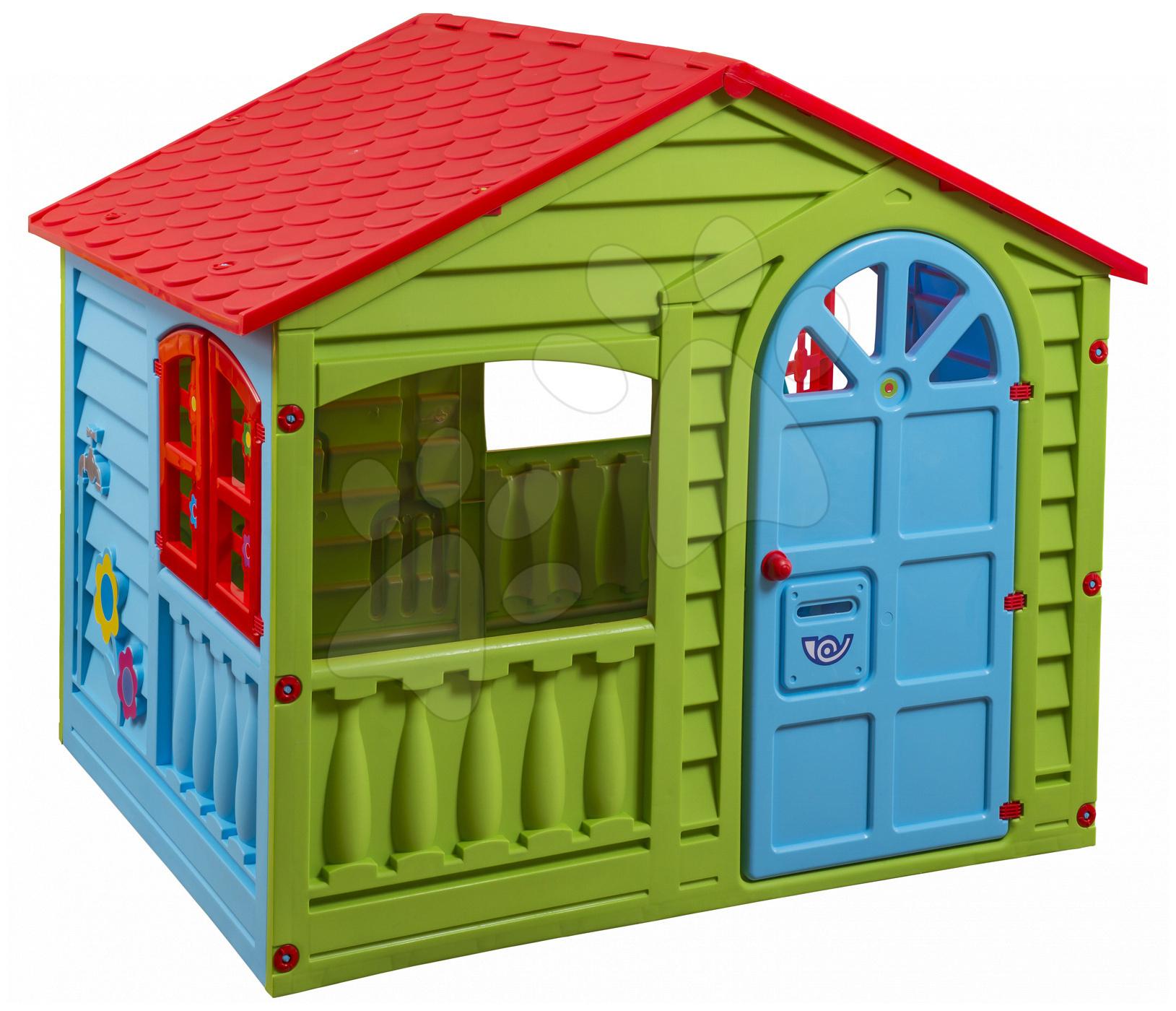 Domčeky pre deti - Domček Happy House PalPlay zeleno-modrý od 24 mes