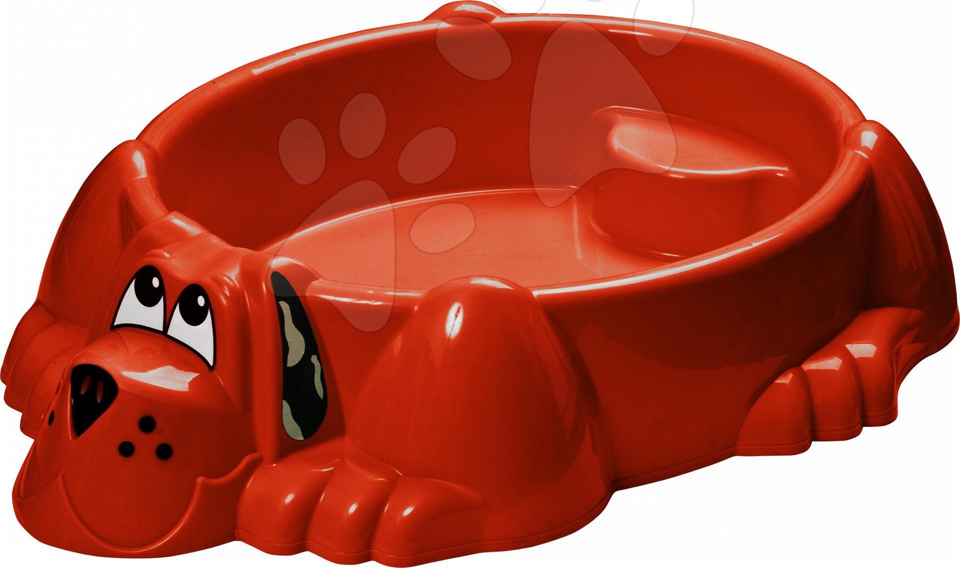 Pieskovisko Pes PalPlay červené od 24 mes