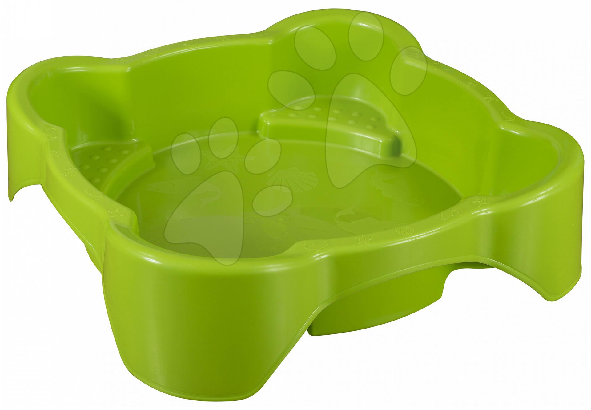 Pieskoviská pre deti - Pieskovisko Kvet PalPlay štvorec zelené od 24 mes