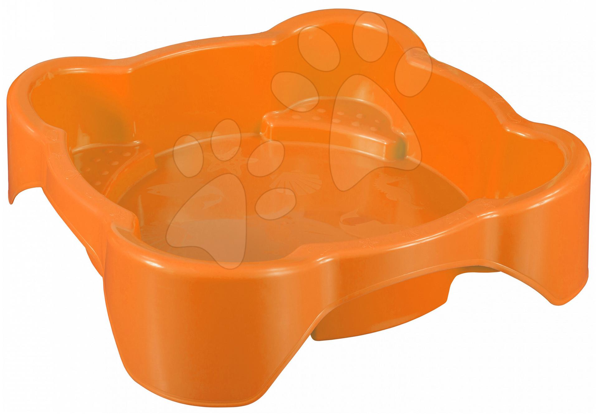 Pieskoviská pre deti - Pieskovisko Kvet PalPlay štvorec oranžové od 24 mes