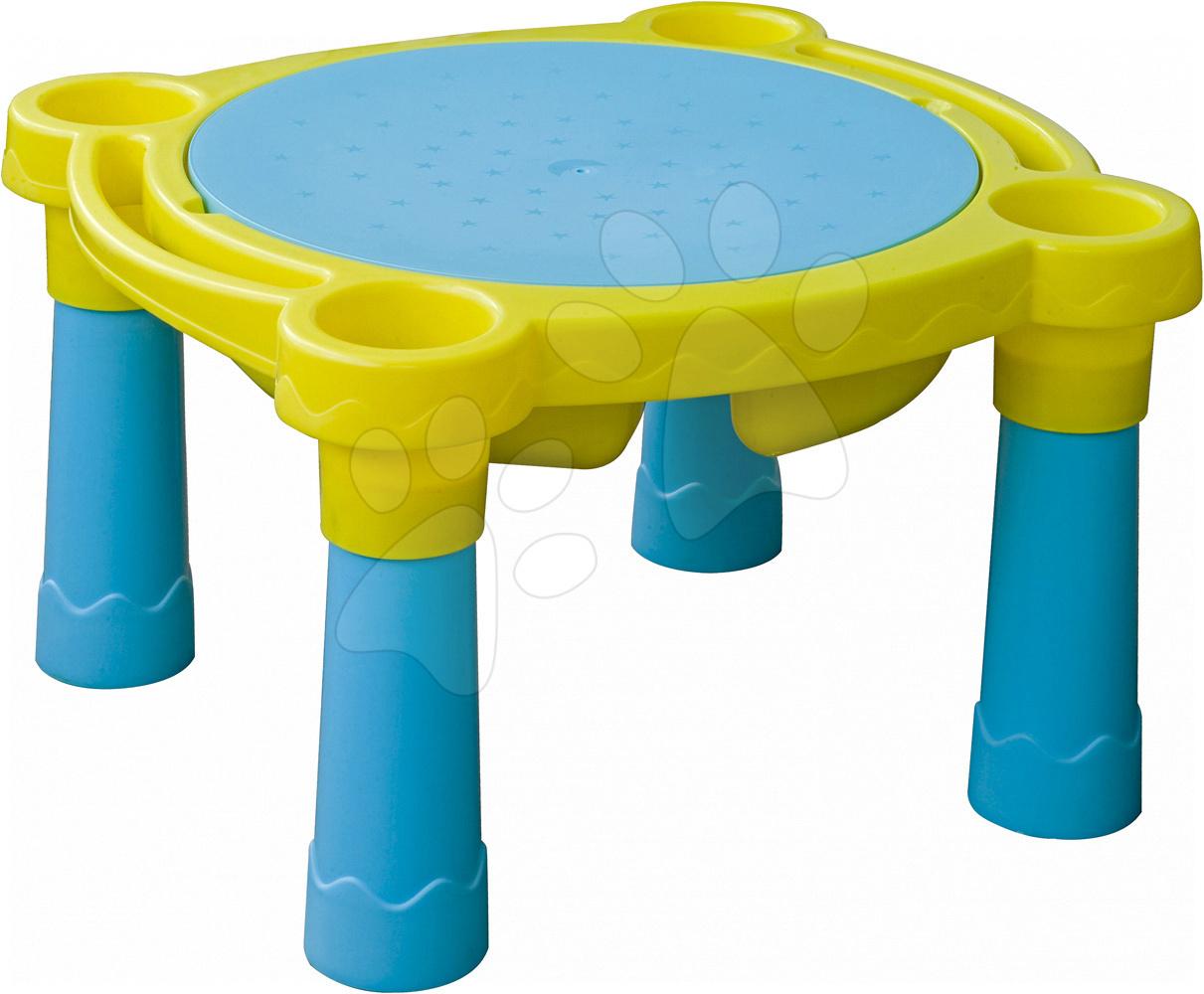 Stôl na hranie PalPlay s krytom žlto-modrý