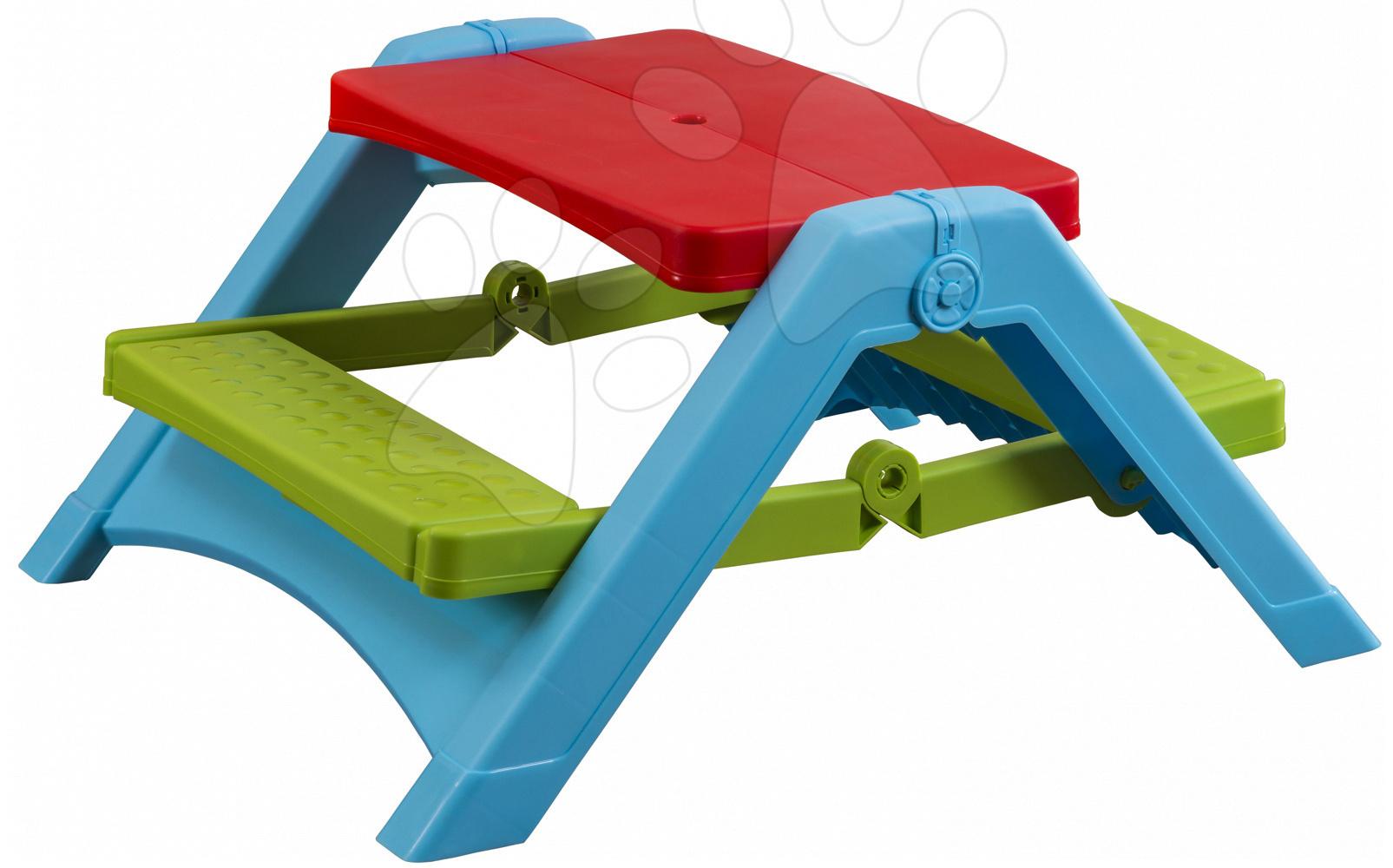 Stůl PalPlay s lavičkami skládací
