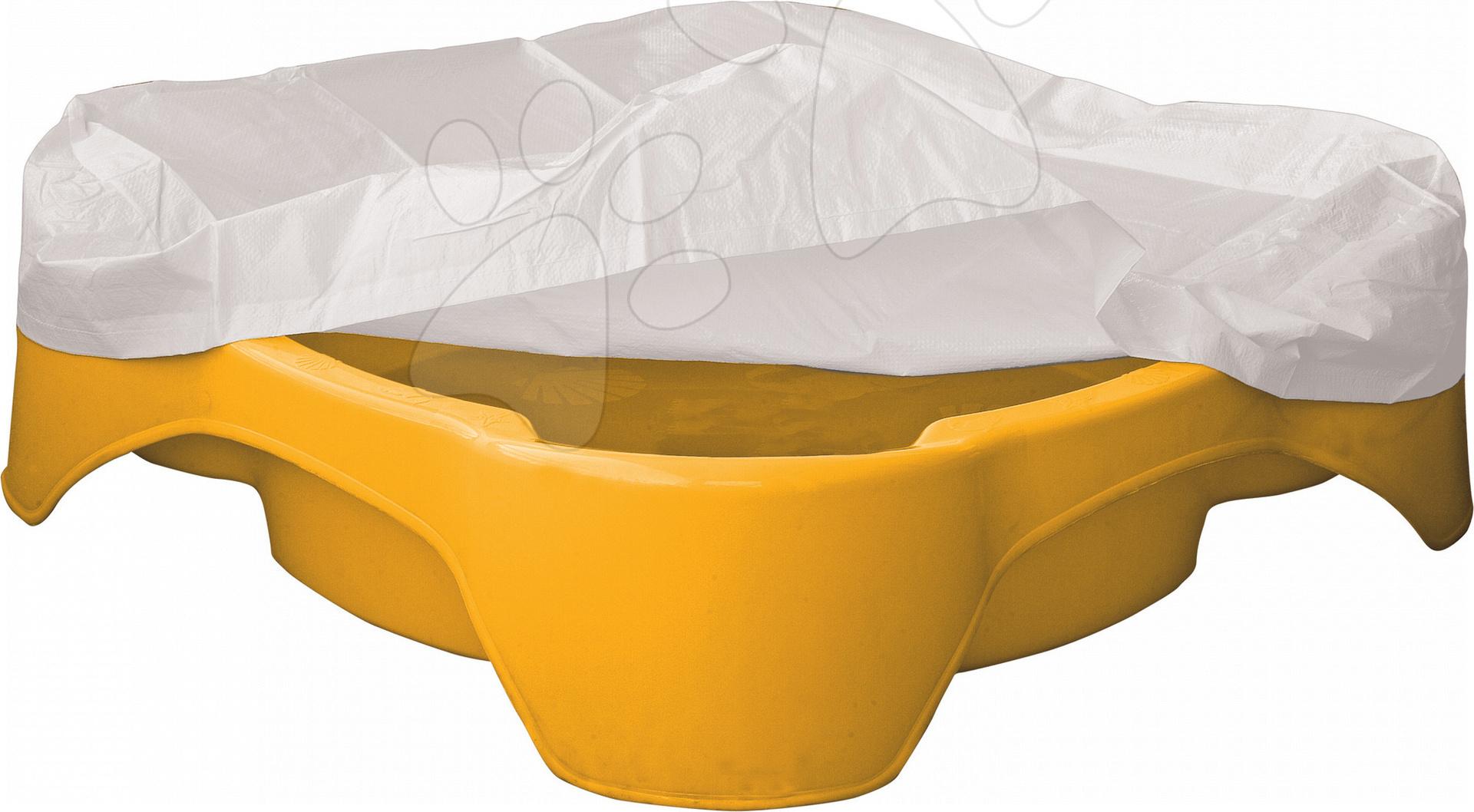Pieskovisko Kvet PalPlay štvorec s krytom žlté od 24 mes