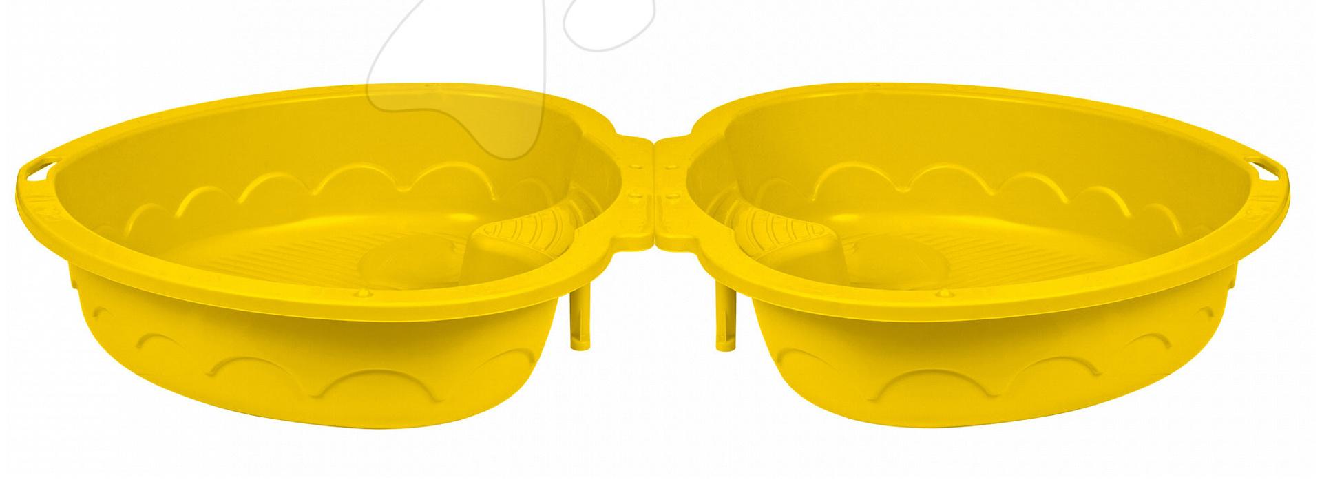 Pískoviště Trojlístek PalPlay s krytem žluté od 24 měsíců