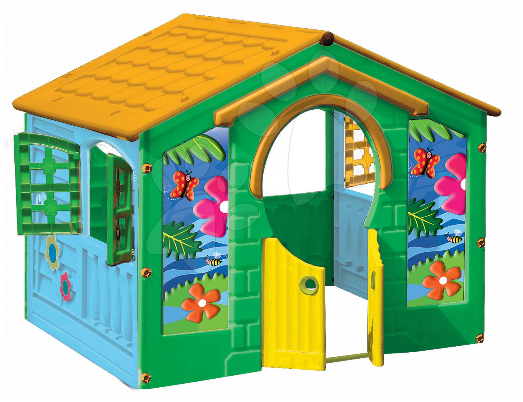 Domčeky pre deti - Domček Farm House PalPlay s motýľom modro-zelený