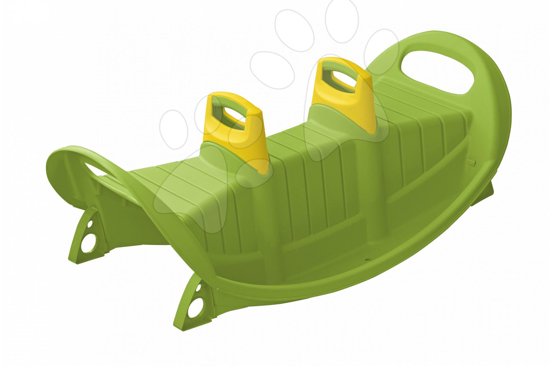 Hojdačka PalPlay obojstranná s rúčkou zelená