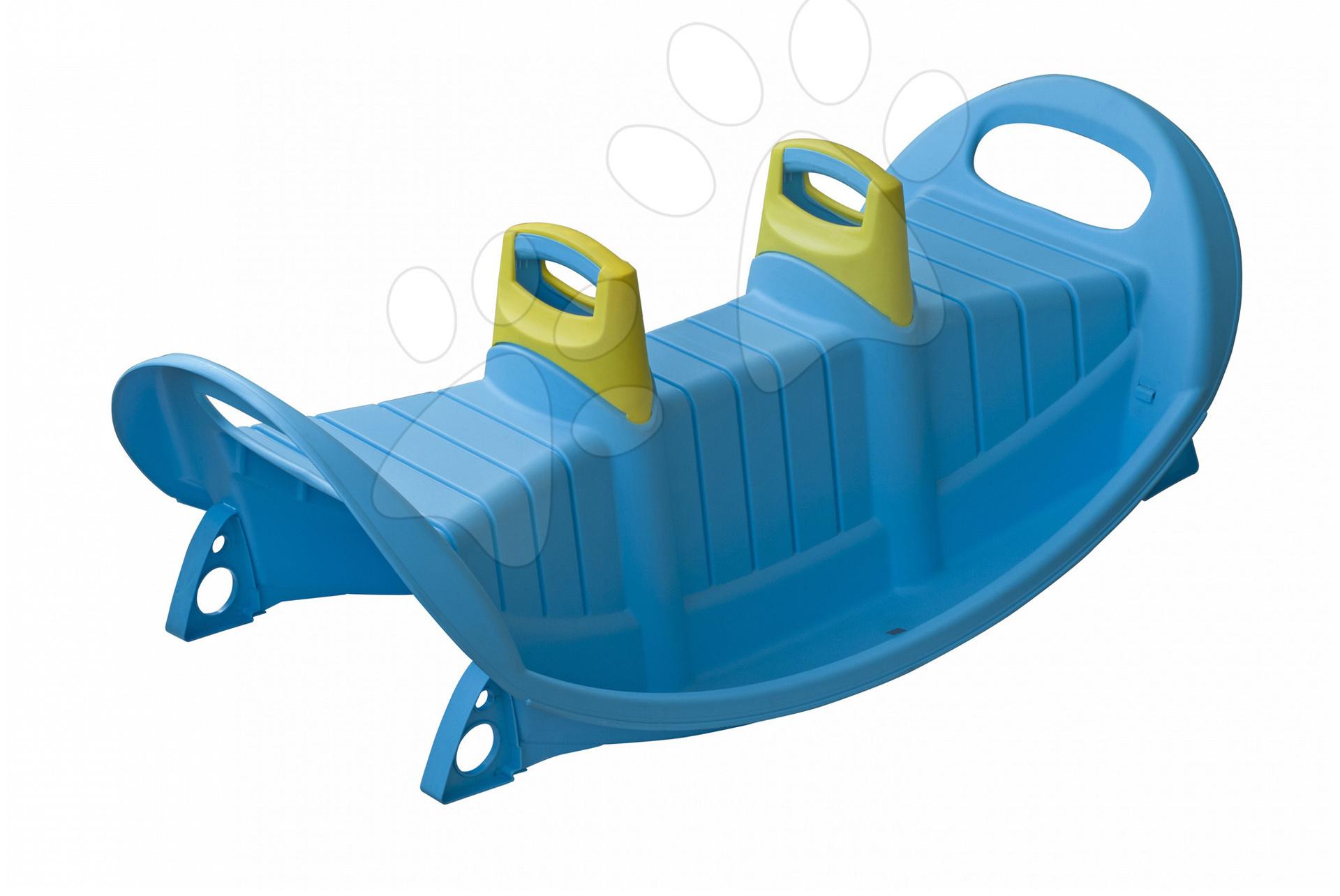 Hojdačka PalPlay obojstranná s rúčkou modrá