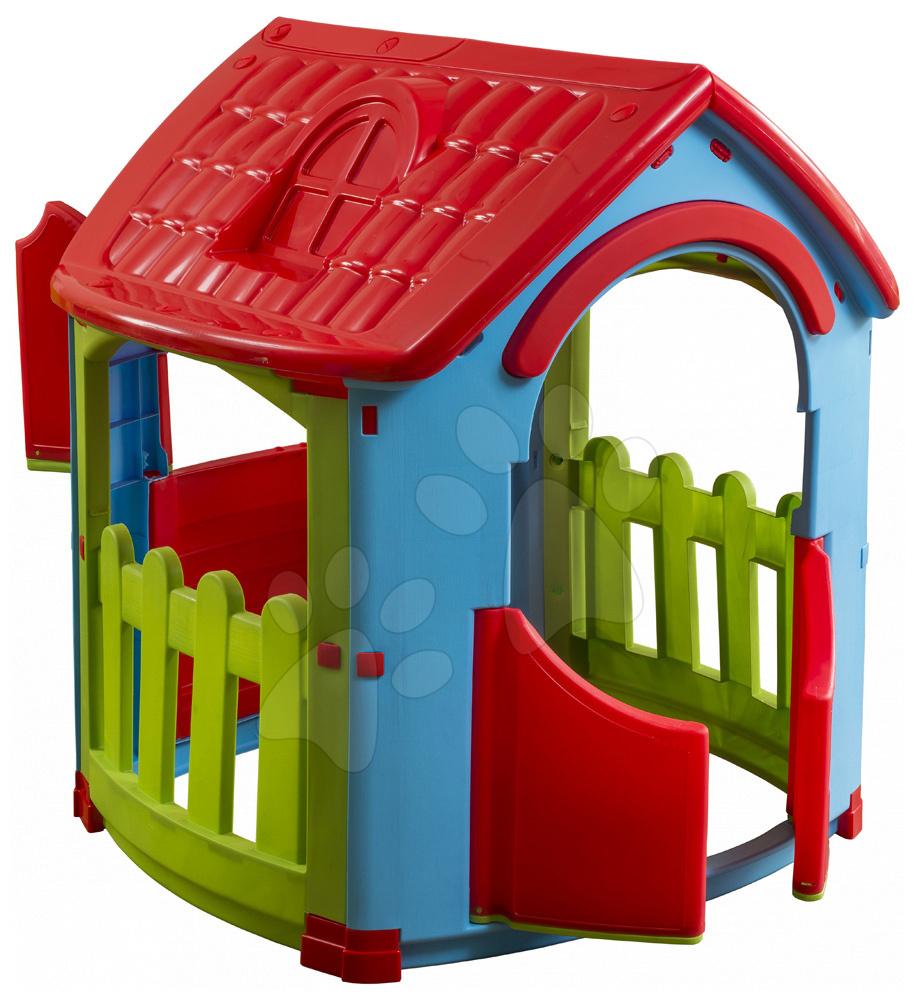 Kerti játszóházak gyerekeknek - Házikó Shed House PalPlay két kerítéssel