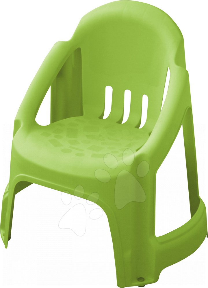 Detský záhradný nábytok - Stolička PalPlay s plnou opierkou zelená